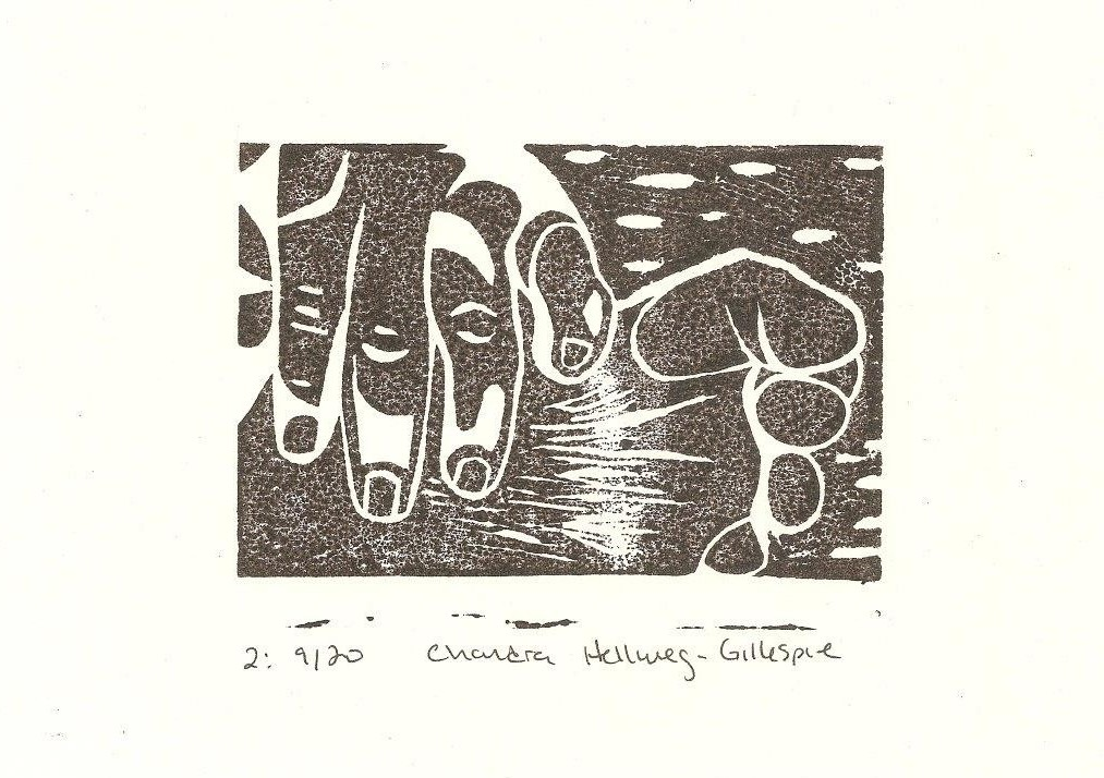 "5""x""7 Linoleum Block Print"