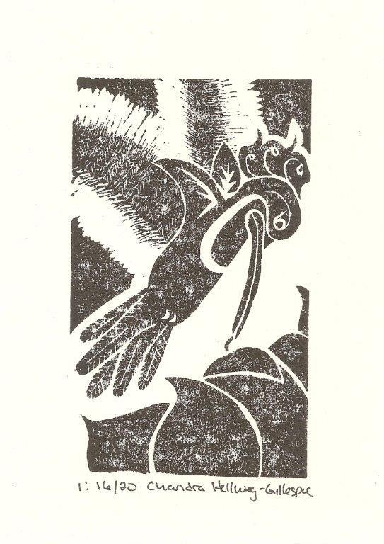 "5""x7"" Linoleum Block Print"